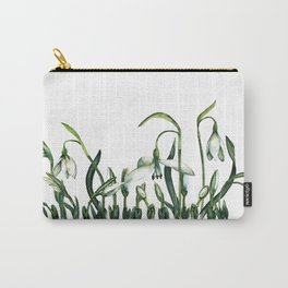 Spring from under the snow. Carry-All Pouch