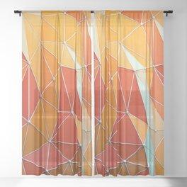 Geometric Triangles Sheer Curtain