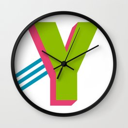 Letter Y Wall Clock