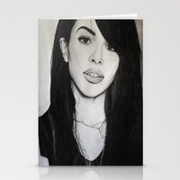 aaliyah Stationery Cards featuring AALIYAH by alittleart