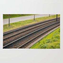 Tramway rail Rug