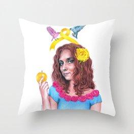 Snow White II | Endometriosis awareness Throw Pillow