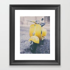 Make it Yellow Framed Art Print