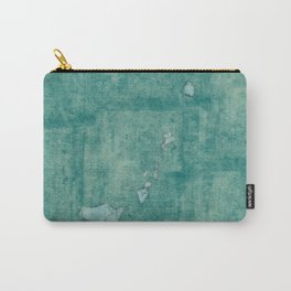 Hawaii State Map Blue Vintage Carry-All Pouch