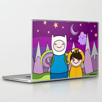 finn and jake Laptop & iPad Skins featuring Kokeshis Finn&Jake by Pendientera
