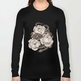 Snake and Peonies Long Sleeve T-shirt