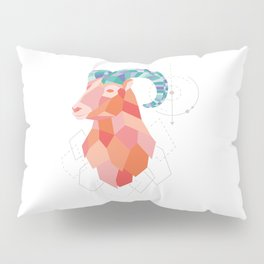 Low Poly Big Horned Sheep Pillow Sham