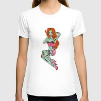 pinup T-shirts featuring Zombie Pinup by Jade Boylan