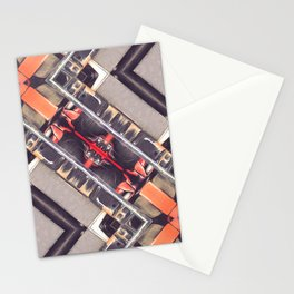 Abstract Geometric Automation Stationery Cards