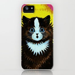 "Louis Wain's Cats ""Psychedelic Rainbow Cat"" iPhone Case"