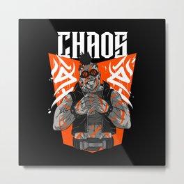 Urban Cyberpunk Brawler Metal Print