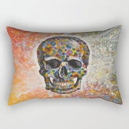 Abstract modern art painting ... Skull Rectangular Pillow
