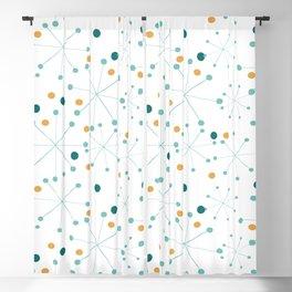 Mid-Century Modern Art Atomic StarDots Pattern 1.0 Blackout Curtain