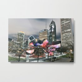 Jay Pritzker Pavilion at Night Metal Print
