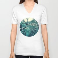 central park V-neck T-shirts featuring Central Park Trees by Jason Simms