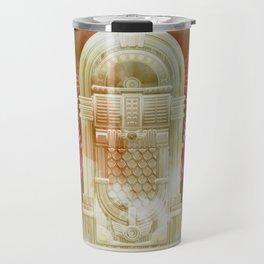 Rose Gold Retro Flying Jukebox Travel Mug