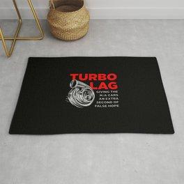 Funny Turbo Lag Car Boost Racing Rug