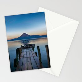 The Dock Sunset (Color) Stationery Cards