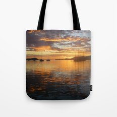 Sunrise on the Sea of Cortez. Tote Bag