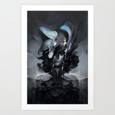 The Carrion Widow from Below the Cliffs Art Print