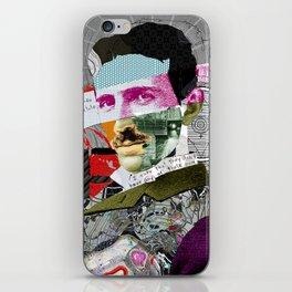 Nikola Portrait Collage Art iPhone Skin
