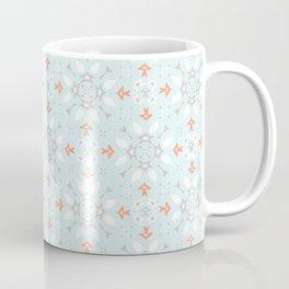 Blue and Orange Winter Star Ornamental Seamless Coffee Mug
