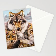 Wolves family Stationery Cards