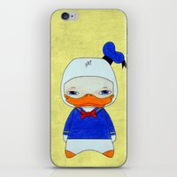 donald duck iPhone & iPod Skins featuring A Boy - Donald Duck by Christophe Chiozzi