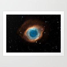 The Helix Nebula Art Print