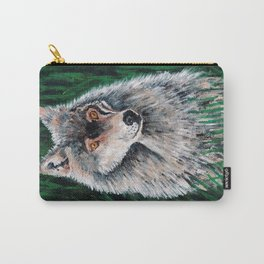 Grey Canadian Wolf Carry-All Pouch