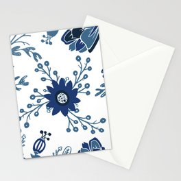 Porcelain Flowers Stationery Cards