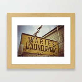 marie's laundrymat Framed Art Print