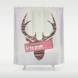 When you are speechless Shower Curtain