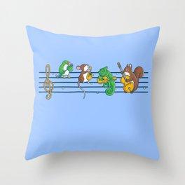 Animal Blues Throw Pillow