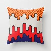 lichtenstein Throw Pillows featuring Lichtenstein by John Tibbott