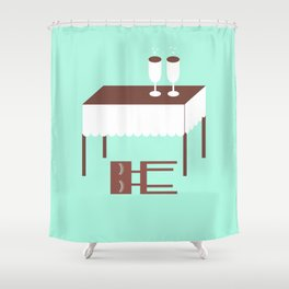 THE DAY AFTER Shower Curtain