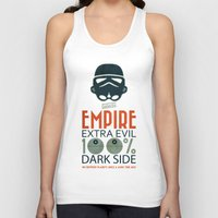 propaganda Tank Tops featuring Star Wars Empire Propaganda by Costantino Gallo