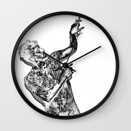 Mariposas Negras Wall Clock