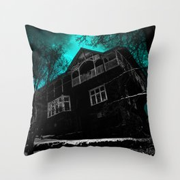 Ghost House Strommen Throw Pillow