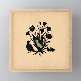 California - State Papercut Print Framed Mini Art Print