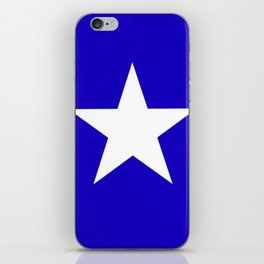 white star on blue background iPhone Skin