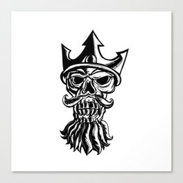 Skull of Neptune Sratchboard Canvas Print