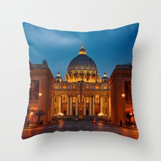 Basilica Papale di San Pietro in Vaticano - Rome - Italy Throw Pillow