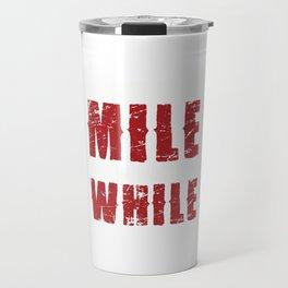 Cross Country Running Runner Typography Every Mile  Travel Mug