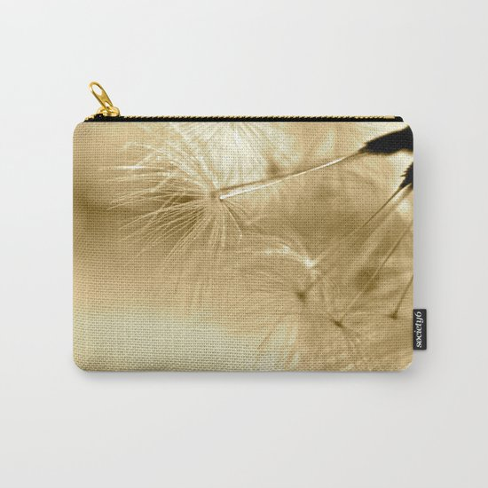Diana's Dandelion Sepia Carry-All Pouch