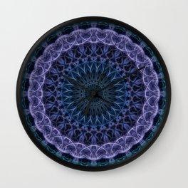 Detailed blue and violet mandala Wall Clock