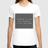 swimming T-shirts featuring swimming by Olga Perelman