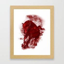 RED STALLION Framed Art Print