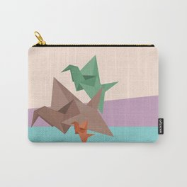 PAPER CRANES (Origami abstract birds animals nature) Carry-All Pouch