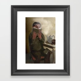 The Keeker in a Teahouse Framed Art Print